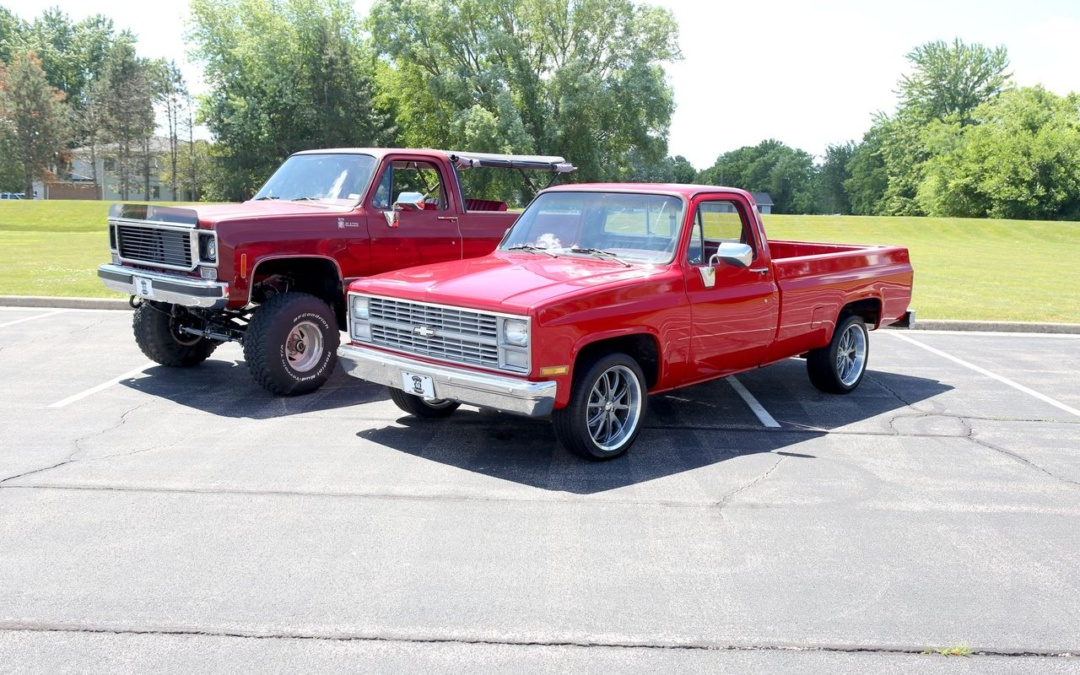 #TransformationTuesday: 1986 Chevy Truck & 1976 Chevy Blazer